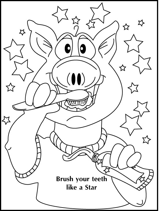 Coloring Page thumbnail - Brush Like a Star